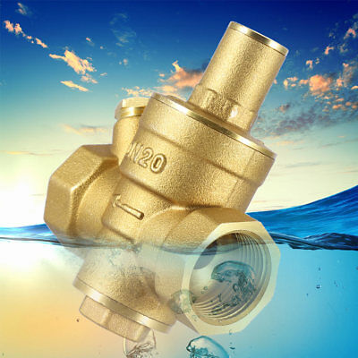 Dn20 34adjustable Brass Water Pressure Reducing Regulator Reducer Valve 1.6mpa