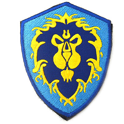 World of Warcraft Alliance Flag Patch WOW Morale BADGE Embroidered Patch
