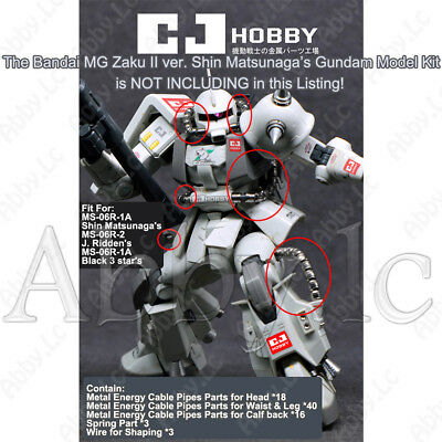 Energy Cable Tube Pipes Metal Parts for MG 1/100 MS 06R 1A 2 Zaku II 2.0 Gundam for sale  China