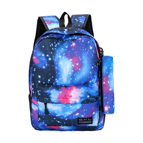 Galaxy Print Backpack Women Girls School Bookbag Shoulder Sa