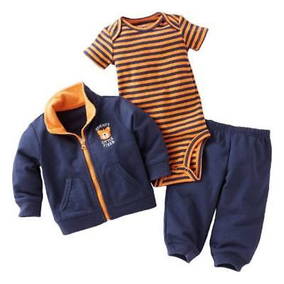 Carters Infant Boys 3 Piece Mommy's Tiger Outfit Sweat Pants Creeper & Jacket (Tiger Outfit)