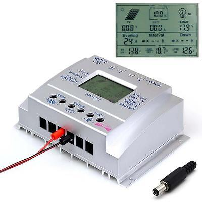 80A MPPT Solar Panel Regulator Battery Charger Controller 12/24V With LCD USB GA