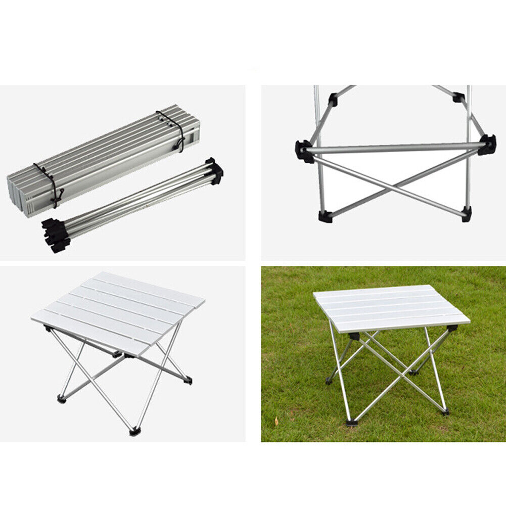 Aluminum Rolling Table Folding Camping Portable Outdoor Travelling Exhibition