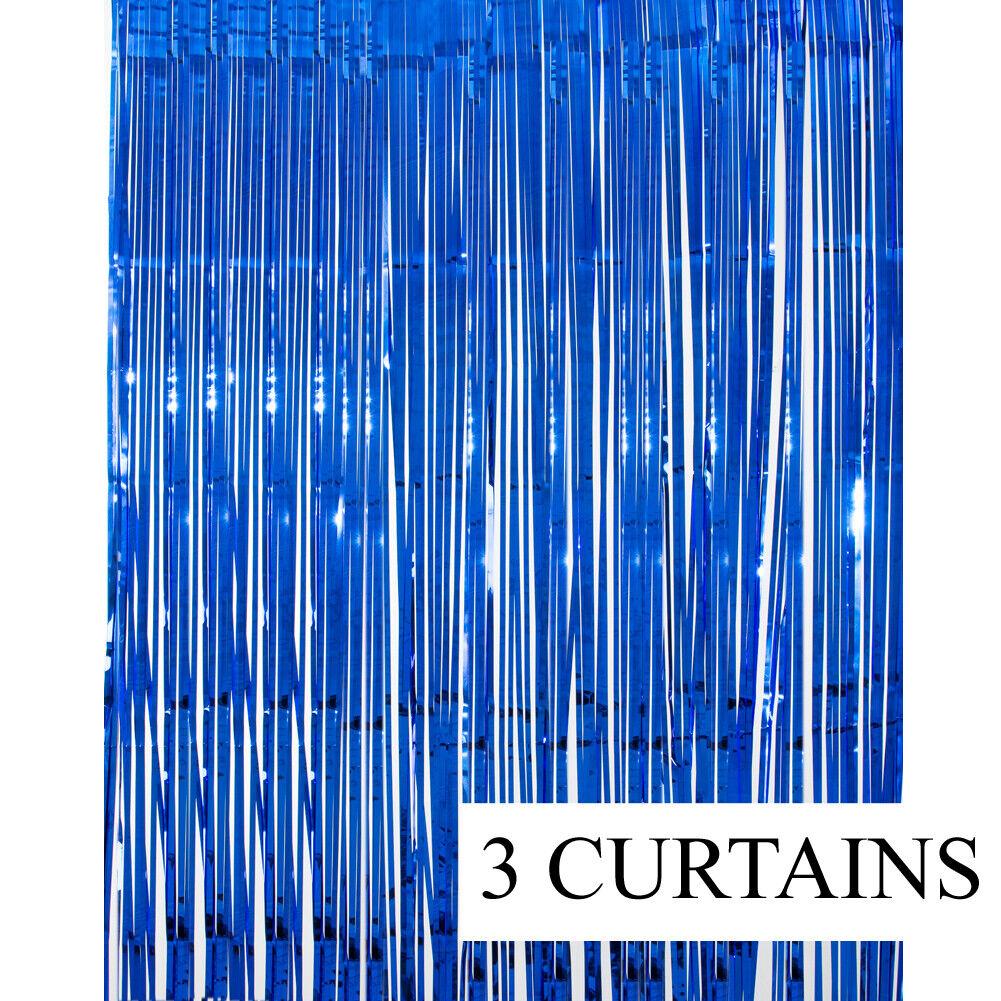 2 Metallic Gold Foil Fringe Curtain Backdrop Party Decor Pho