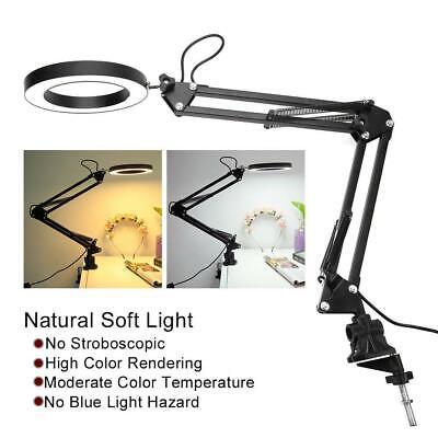 USB plegable recargable LED escritorio de lectura lámpara de mesa control