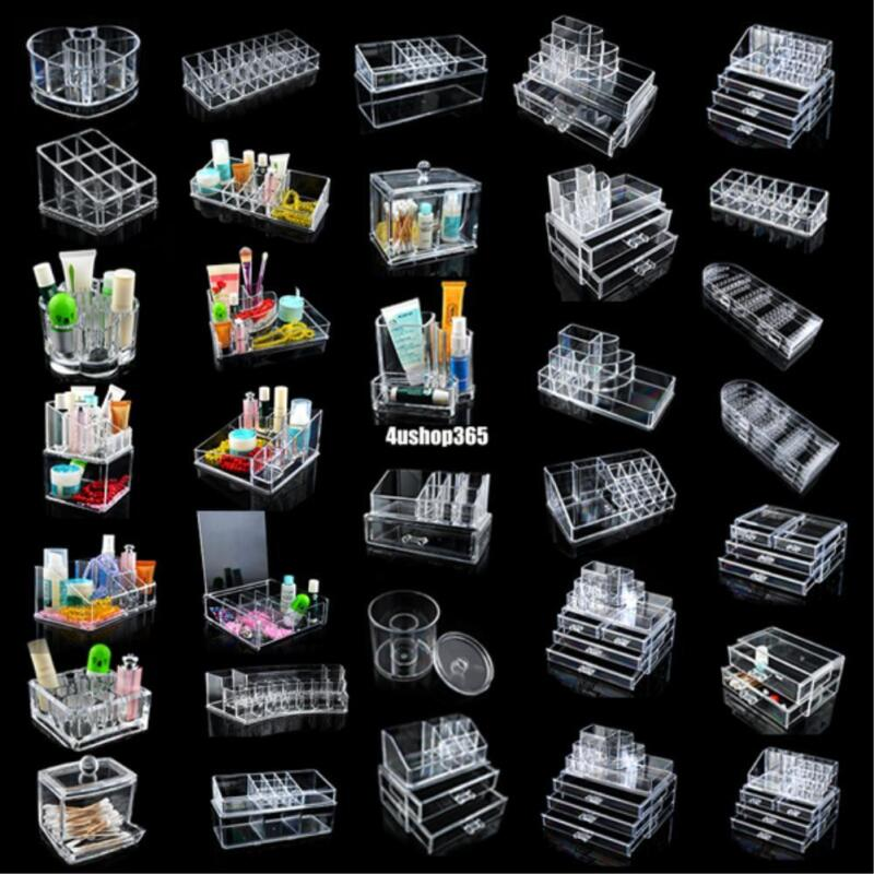 Clear Display Acrylic Stand Lipstick Cosmetics Makeup Frame Storage Organizer 0