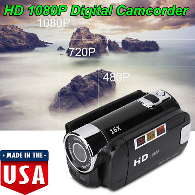 Digital Video Camcorder Full HD 1080P Handheld Camera 16MP 16X Zoom CMOS Sensor