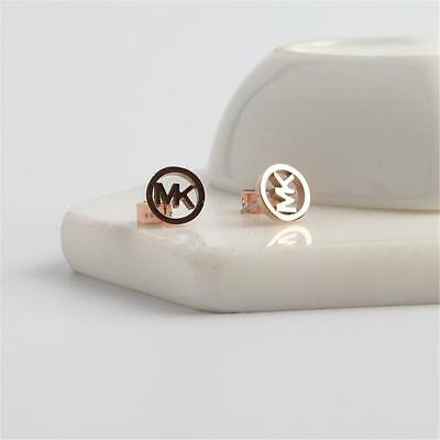 Michael Kors Rose Gold Tone Logo Stud Earrings