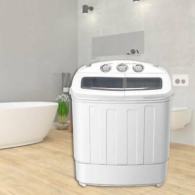 Mini Waschmaschine 2 Kammern Washing Machine mit Schleuder Trockner Waschautomat