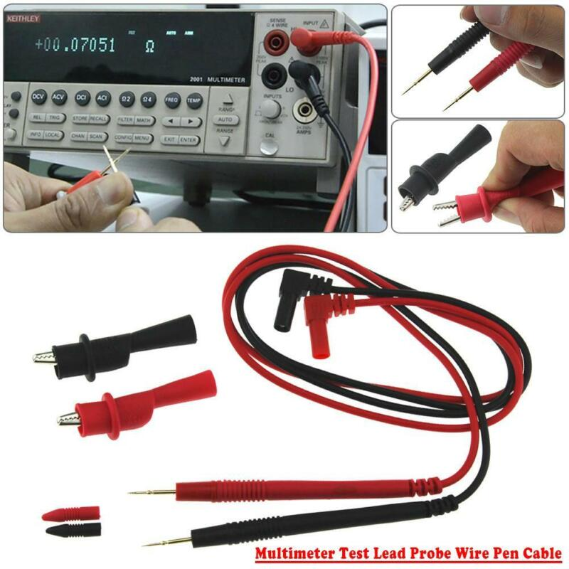 10A Multimeter Test Leads Probes Wire Volt Meter Cable + All