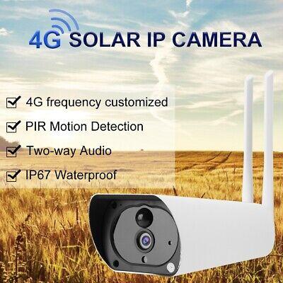 CCTV 1080P 2MP CáMara solar Seguridad De Video Vigilancia 4G Tarjeta SIM...