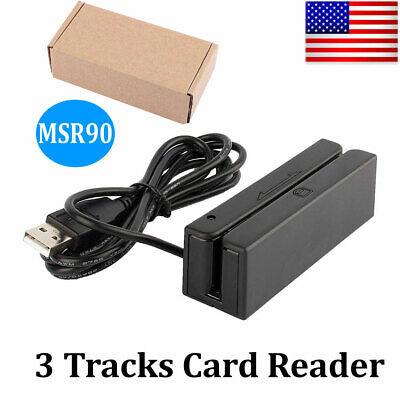 Usb Magnetic Stripe Card Reader Writer Encoder Credit Magstrip Msr90 Hot