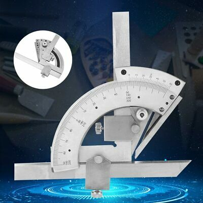 Precision Fine Tuning Angle Finder Ruler 0-320° Universal Bevel Protractor Meter