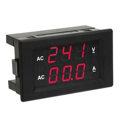 0.39led Digital Ac Voltmeter Ammeter Amp Volt Meter Red-redred-blueblue-blue