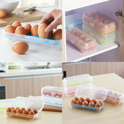 15 Grids Egg Storage Box Home Restaurant Food Fridge Durable