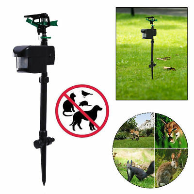 Solar Powered Motion Activated Water Lawn Sprinkler Animal Dog Cat Repeller
