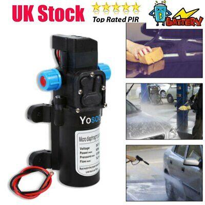 12V Water Pump High Pressure 115psi 5Lpm Self-Priming Pump Car Cleaner Garden