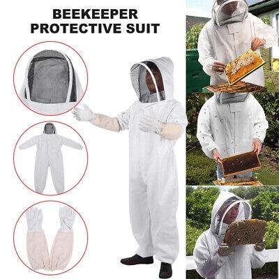 Beekeeper Protective Beekeeping Bee Suit Veil Smock Ventilated Gloves Easibee Xl