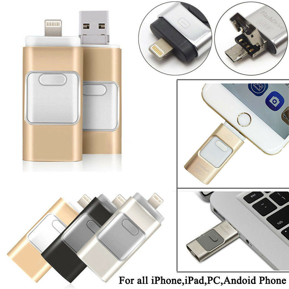 512GB i Flash Drive USB Memory Stick U Disk 3 in 1 for  iPho