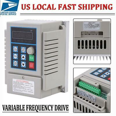 Variable Frequency Drive Inverter Ac220v 0.75kw 5a 1 Phase Speed Control