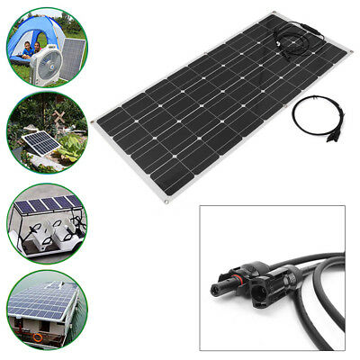 120W Flexible Solar Panel Mono Module RV Boat Roof Car 12V Battery Power Charger