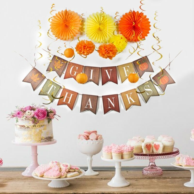 24 Pieces Thanksgiving Party Decoration
