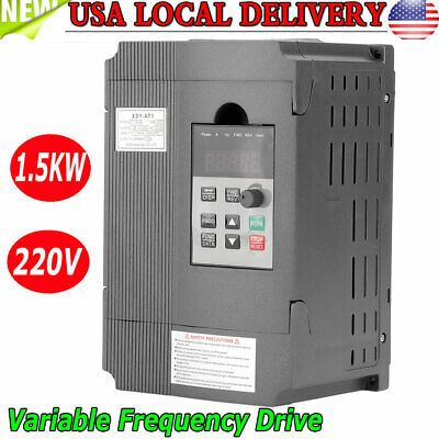 1.5kw Vfd Single Phase Motor Speed Control Variable Frequency Drive Inverter