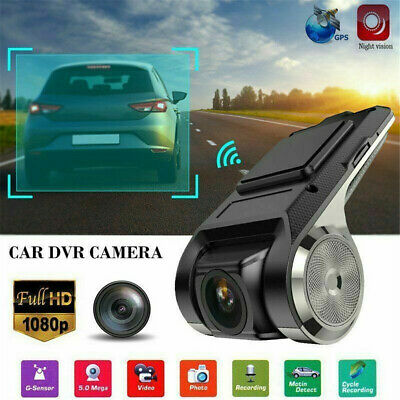 Dashcam Autokamera GPS Video Recorder Full HD 1080P Kamera 170° Weitwinkel (Kamera Video-kamera)