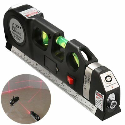 Metric Level - Multipurpose Laser Level laser  Measure Tape Ruler Adjusted Standard and Metric