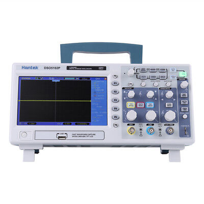 Hantek Dso5102p 100mhz 2ch Digit Oscilloscope 7 64k Tft Color Lcd 1gsas Usb Lj