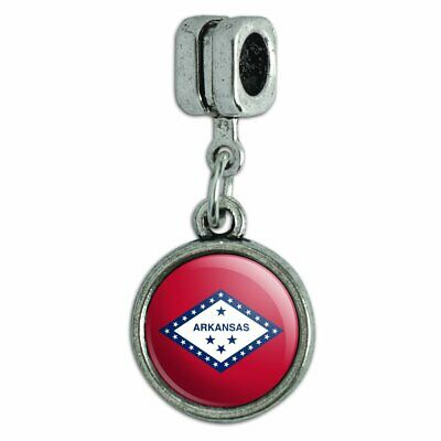 Arkansas State Flag Italian European Style Bracelet Charm Bead