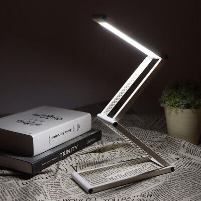 USB Rechargeable LED Desk Table Lamp Light Foldable Portable 2-Position Dimmable