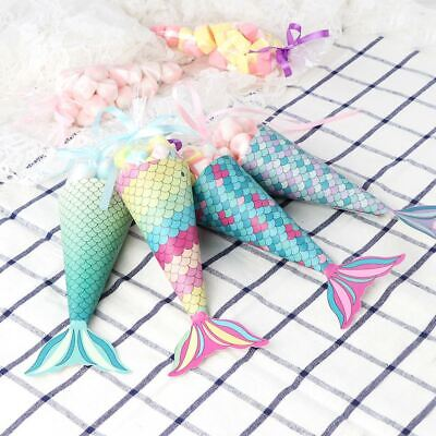 Mermaid Gift Bags Mermaid Themed Baby Shower Bridal Show Kids Birthday Favor Bag