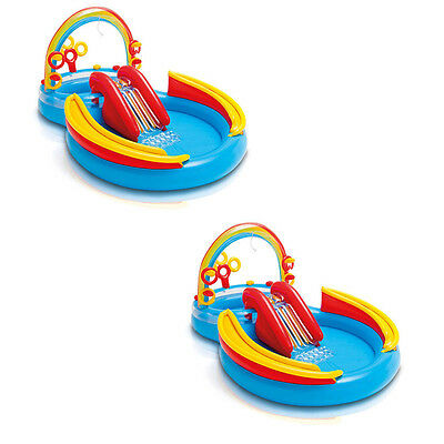 2-Throng Intex Inflatable Kids Pool, O Frivolity Center with Glide | 2 x 57453EP