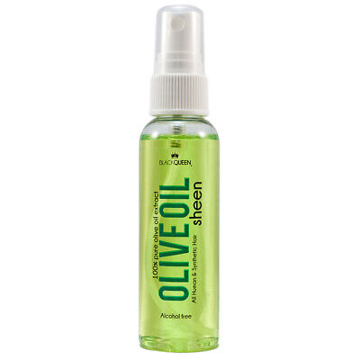 Black Queen Alcohol Free Olive Oil Sheen Spray For Human and Synthetic Hair 8oz - Black Spray For Hair