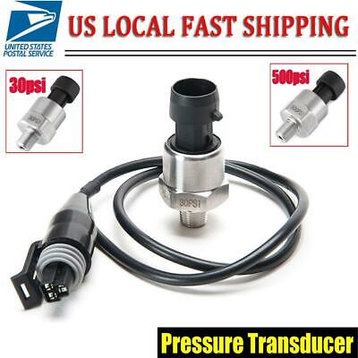 Stainless Steel 30psi Pressure Transducer Sender For Oil Fuel Air Water 18 Npt