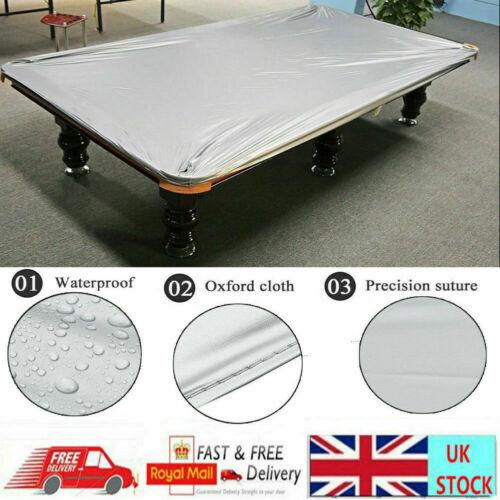POOL BILLIARD TABLE COVER-8FT HEAVY GAUGE WATERPROOF PLASTIC ELASTICATED DURABLE
