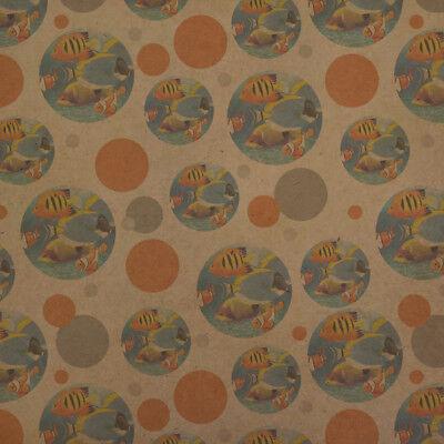 Tropical Coral Reef Fish Clown Premium Kraft Gift Wrap Wrapping Paper Roll - Coral Wrapping Paper
