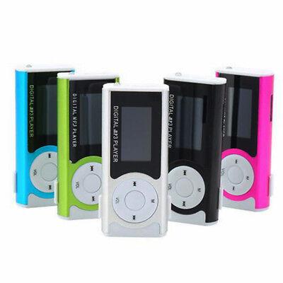 """Mini 1.3"""" LCD Display Clip USB MP3 Player Support TF Card Flashlight Speaker"""