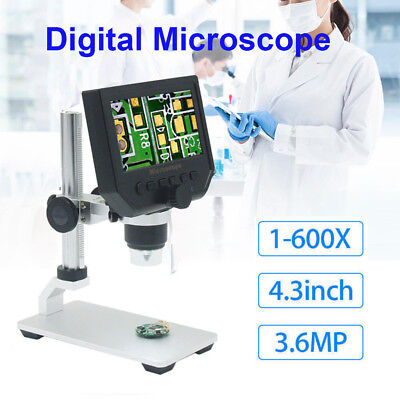 G600 1-600x 4.3inch Led Digital Microscope Magnifier Endoscope With Hd 3.6mp Ccd