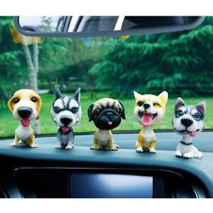 1x Car Style Cute Dog Doll Shaking Head Nodding Dog For Car Decoration Ornaments