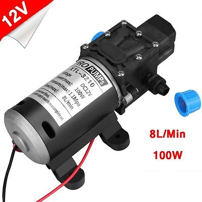 Heavy Duty 160psi High Pressure Diaphragm Self-Priming Water Pump 12V 8L/min UK
