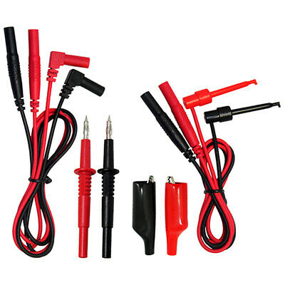 Aidetek Tl809 Alligator Clips Grabber Test Lead Kit For Fluke Multimeter T1070