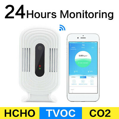 Wifi Air Quality Tester Smart Monitor Detector Pm2.5 Hcho Tvoc Co2 Analyzer Us
