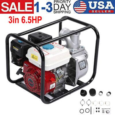 6.5 Hp Gas Water Semi Trash Pump 3 In Petrol High Pressure Garden Irrigation