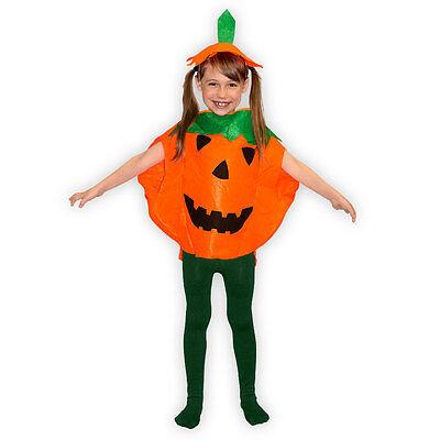 Kostüm Set Kürbis Halloween mit Hut für Kinder ()