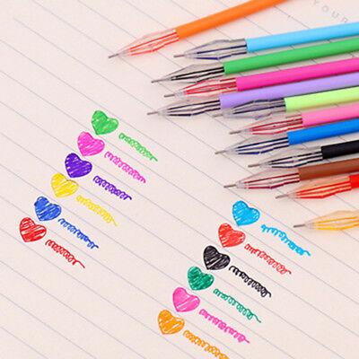 12Pcs set Diamond Gel Pen School Supplies Draw Colored Pens Student Multi - Multi Color Pens