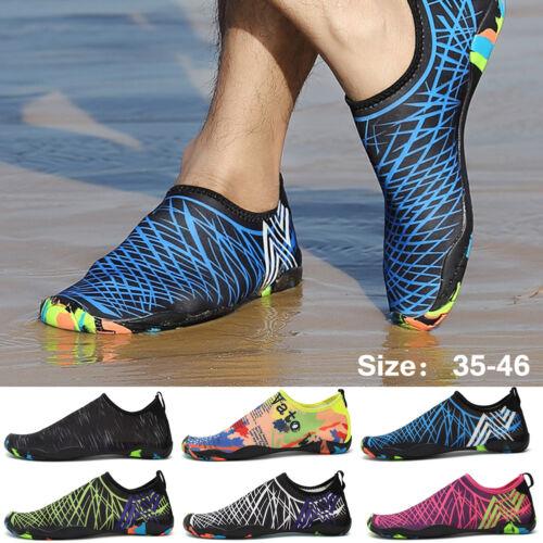 Mens Water Beach Shoes Barefoot Skin Socks Quick-Dry Aqua Swim Water Sports Plus