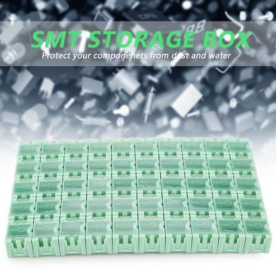 50pcs Green Smt Smd Container Box Electronic Components Mini Storage Case New