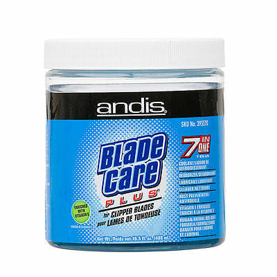 ANDIS Blade Care Plus 7 in 1 Clipper Blades Jar Cleaner 16.5oz #5706